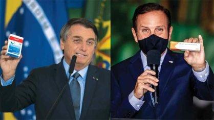 Mônica Bergamo revela xingamento de Bolsonaro no jantar com empresários e o governador de São Paulo João Doria respondeu citando a vacina antirrábica.