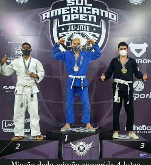 Tobiense Bruno Chaves é campeão sul-americano de jiu-jitsu no Rio de Janeiro
